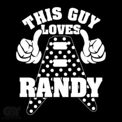 This guy love randy rhoads tshirt t shirt