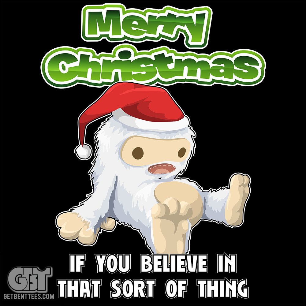 Merry Christmas Monster T-Shirt Gift For Xmas — Get Bent Tees
