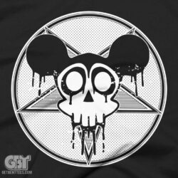 horror scary shirt mouse skull t-shirt
