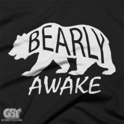 bear t-shirt gift fro men and women, bear t-shirt outdoors tramping and campin tshirt