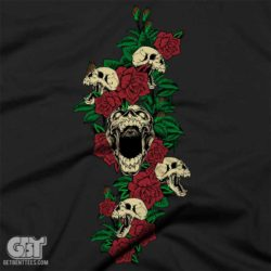 skull and roses skull clothing tshirt priate skull clothing