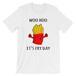 woohoo-is-fry-day-dark_mockup_Wrinkle-Front_White