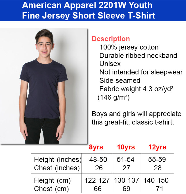 Kids Size Chart Youth2 Get Bent Tees