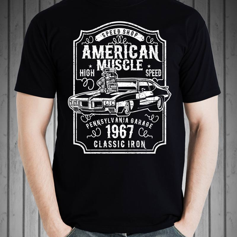 american muscle car tshirt