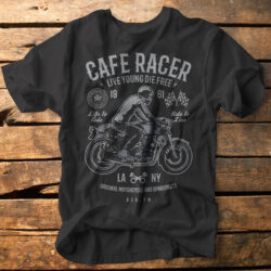 cafe racer motorbike motorcycle riding fathers day tshirt