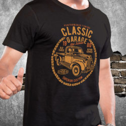 classic-garage-truck-car-tshirt-fathers-day-gift-black