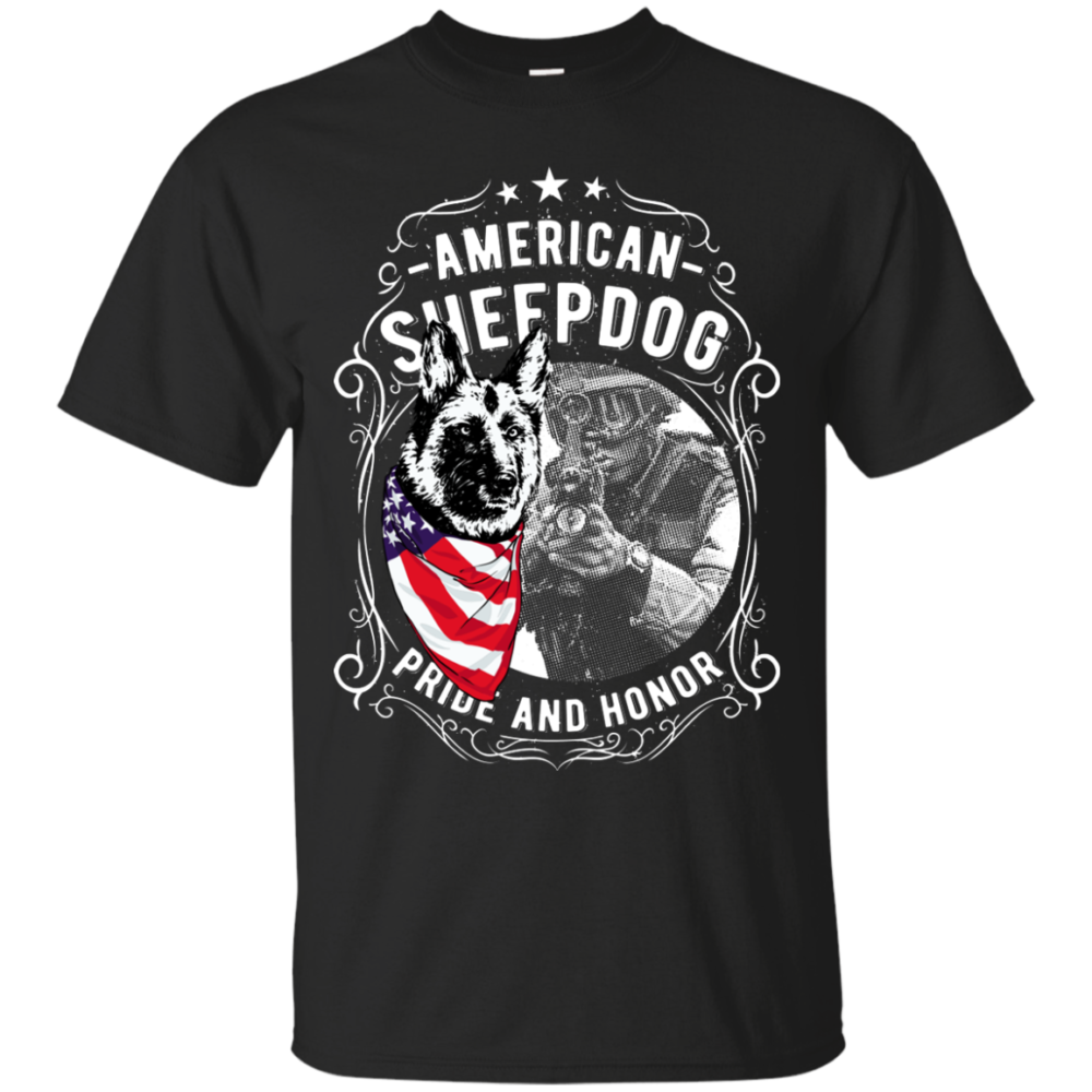 American Sheepdog detector dog t-shirt