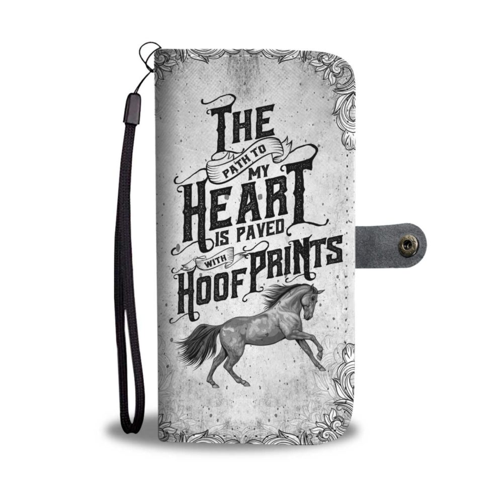 Amazing My Heart Is Paved - Horse Smartphone Wallet Case3