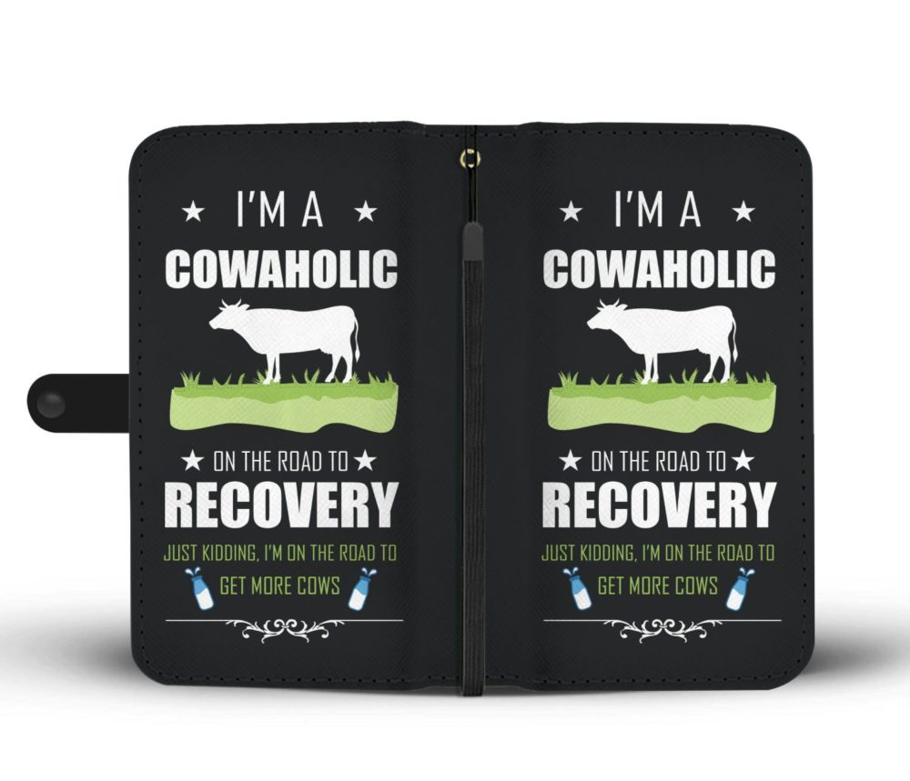 I'm A Cowaholic Funny Cow Wallet Case