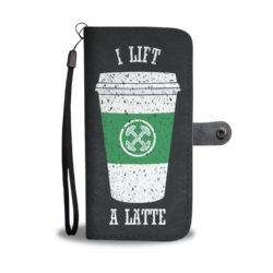 I Lift A Latte Cross Fit Wallet Case