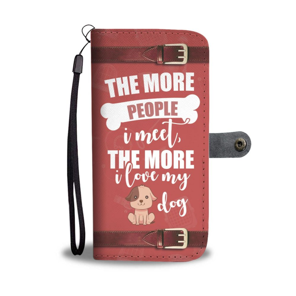 Awesome Funny I Love My dog Wallet Case4