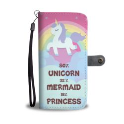 Awesome Unicorn Mermaid Princess Smartphone Wallet Case