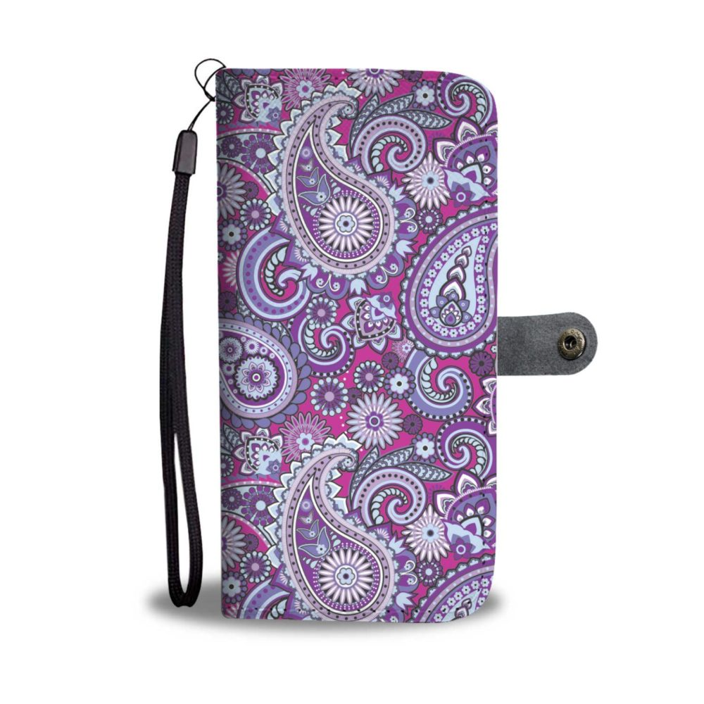 Paisley Purple Pattern Smartphone Wallet Case