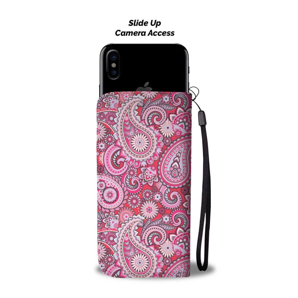 Paisley Pink Pattern Smartphone Wallet Case