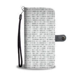 Computer Binary Wallet Phone Case Front
