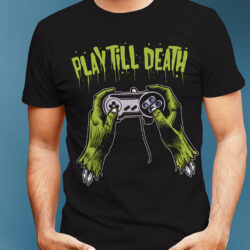 play-til-death-halloween-tshirt