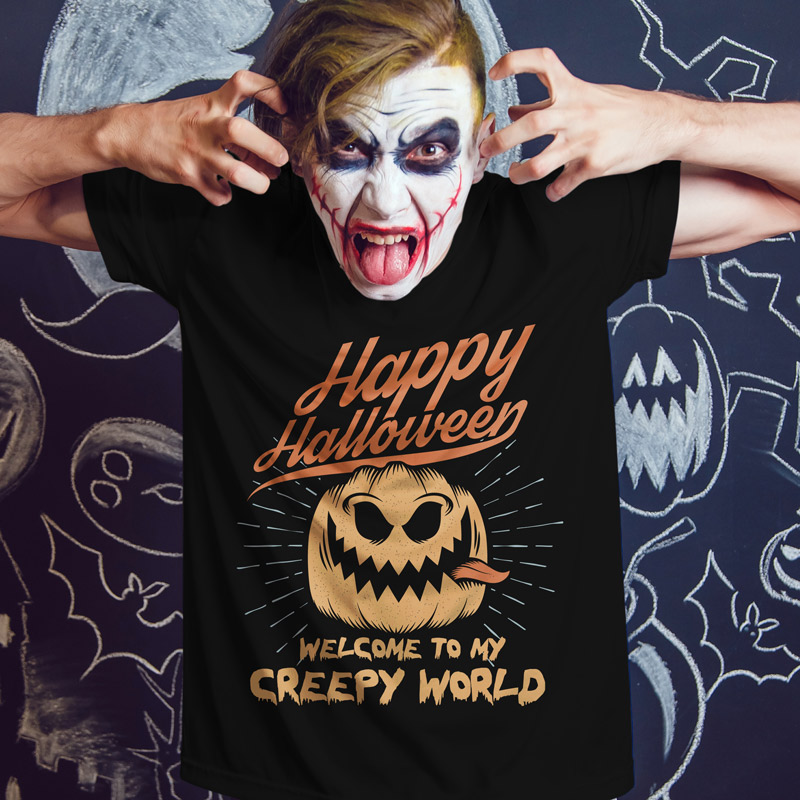 83a5ddfd412 Welcome to My Creepy World Halloween T-Shirt — Get Bent Tees