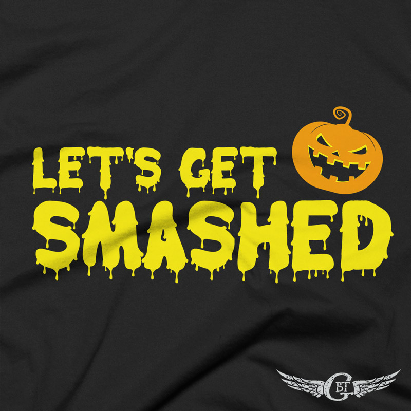 LETS-GET-SMASHED-HALLOWEEN-FUNNY-T-SHIRT-front