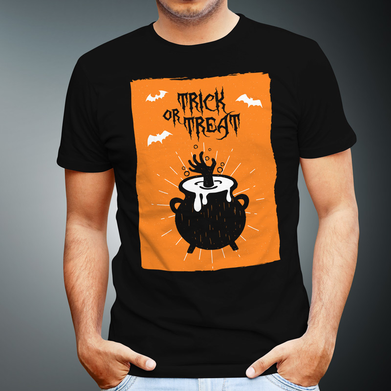 e700c4aa Trick Or Treat Hand Halloween Tshirt — Get Bent Tees