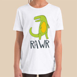 dinosaur-raw-boys-girls-Toddler-Youth-T-shirt-Bella-canvas-3001-4