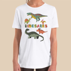 dinosaurs-boys-girls-Toddler-Youth-T-shirt-Bella-canvas-3001-mockup-2