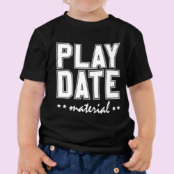 cute kids play-date-material-black Tshirts