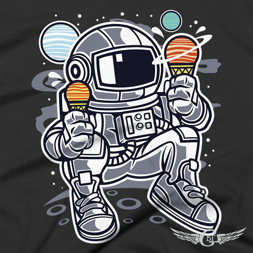 Astronaut Space Ice Cream Unisex T-Shirt kids youth toddler t-shirts