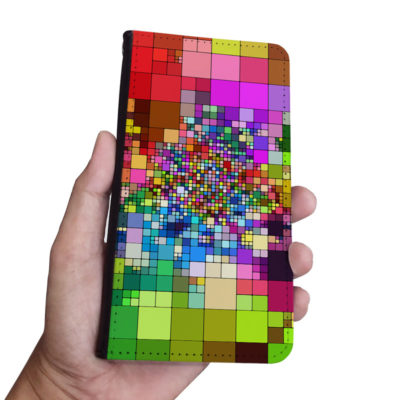 Colorful Pattern Iphone Samsung Wallet Phone Case (4)